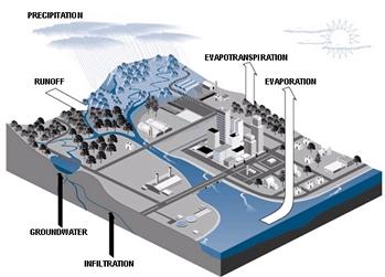 What happens when water vapor cools?